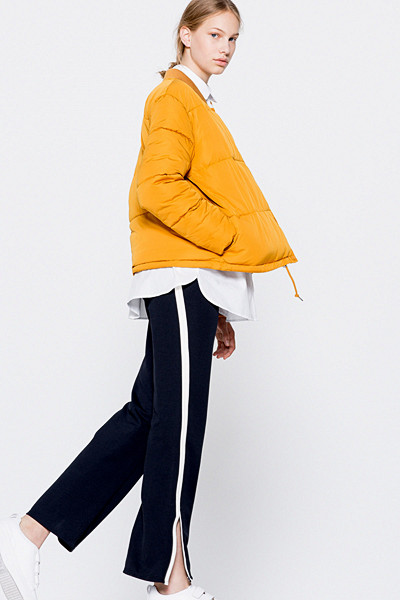 Pull&Bear quilted bomber collar jacket