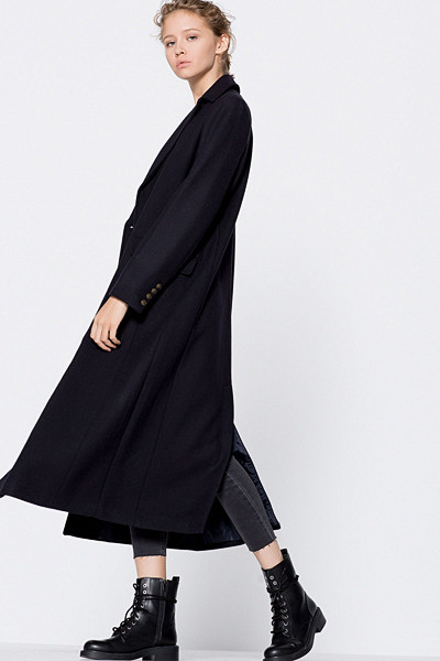 Pull&Bear long military coat