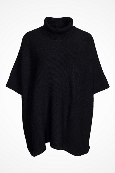 Pieces stickad poncho