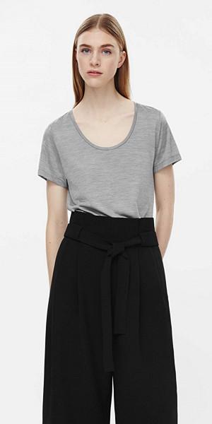 COS silk jersey grå t-shirt