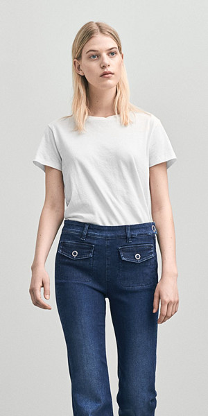 Filippa K Cotton Tee vit t-shirt