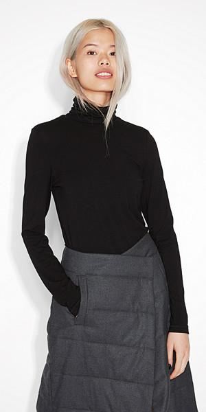 Monki svart polotröja