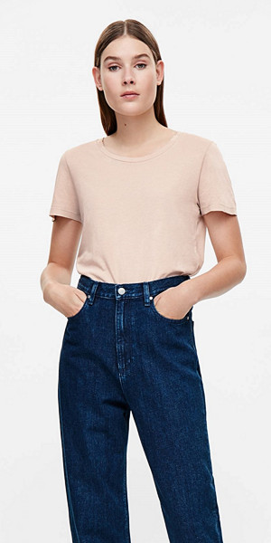 COS relaxed cotton gammelrosa t-shirt