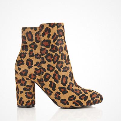 Miss Selfridge Dee Leopard Print Boots