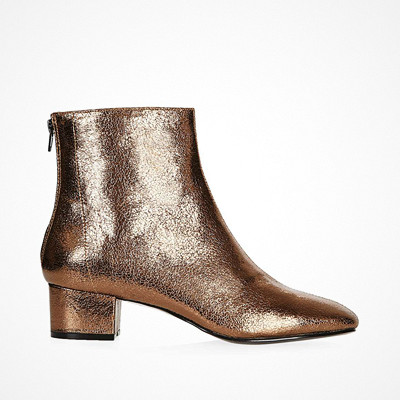Topshop Kobra boot metallic bronze
