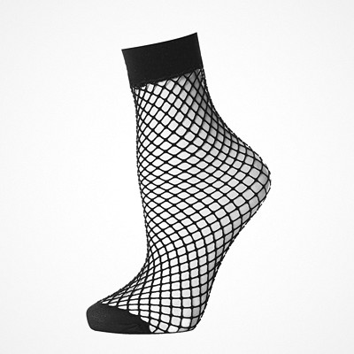 Topshop fishnet ankle sock