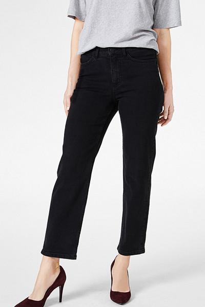 Lindex svarta jeans med hög midja och raka ben