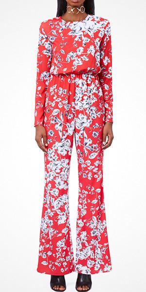 Ivyrevel röd jumpsuit med flower print