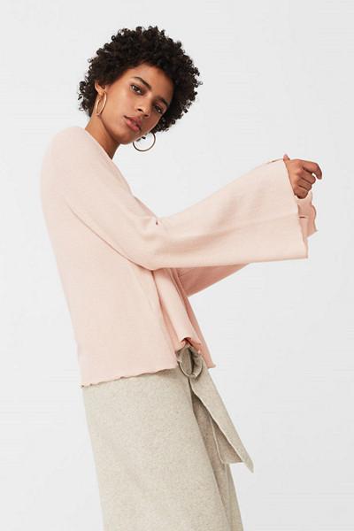 Mango rosa tröja med breda ärmar