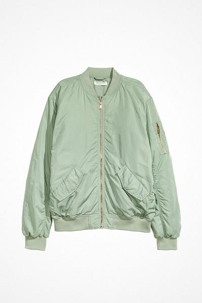 H&M mintgrön bomberjacka