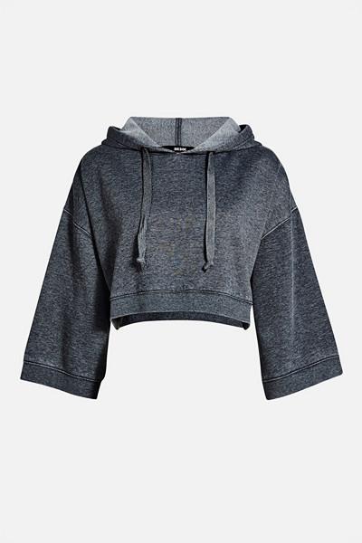 Bik Bok mörkgrå cropped hoodie