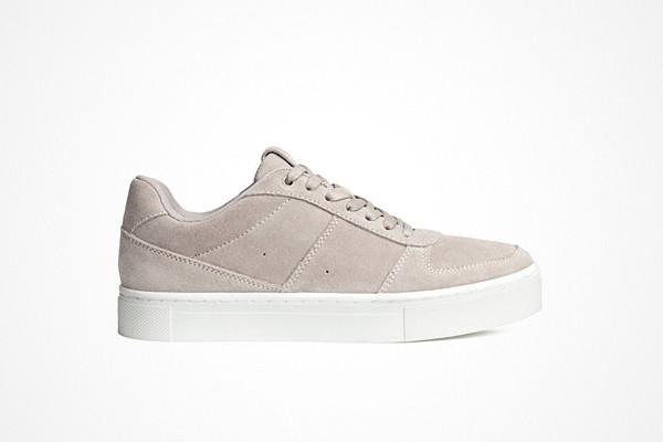H&M ljusgrå sneakers