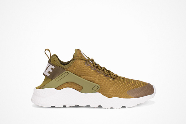 Nike olivgröna sneakers i textil Air Huarache Run Ultra