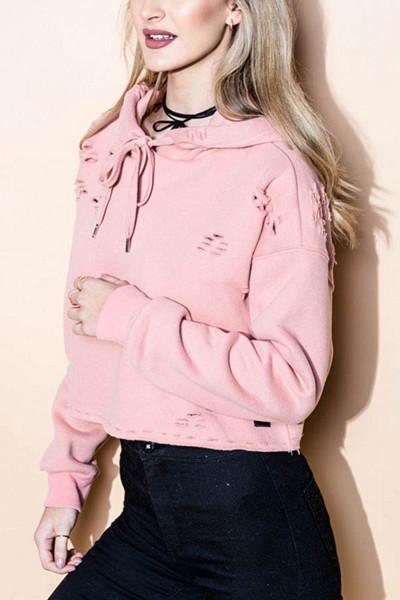 Sixth June rosa cropped hoodie
