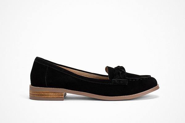 Topshop loafers i läder