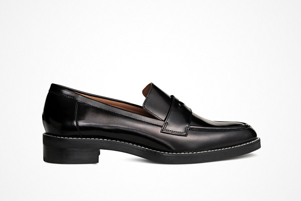 H&M loafers i läder