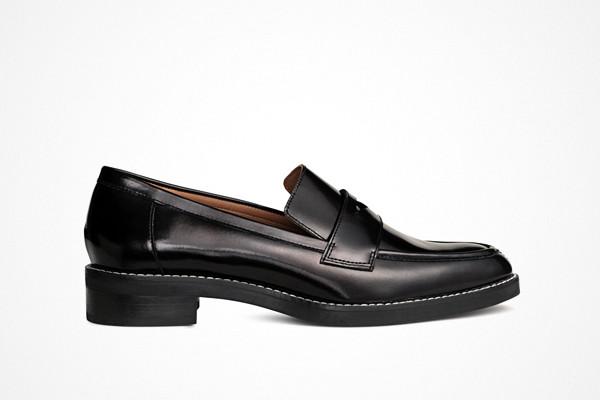 H&M loafers i läder