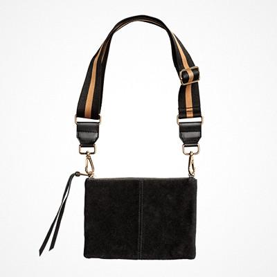 H&M svart axelremsväska läder-imitation