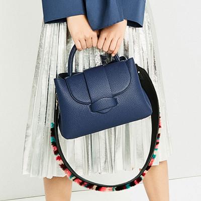 Zara blå minicityväska