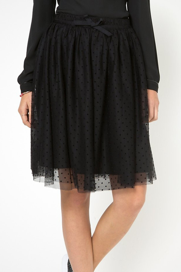 Mademoiselle R svart kjol med tyll