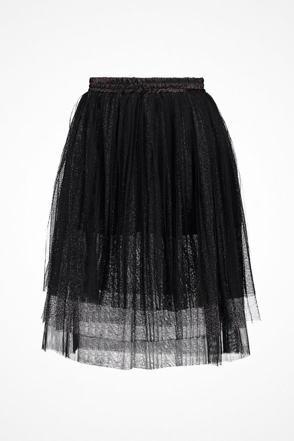 Navy London svart veckad kjol Tilly