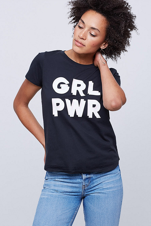 "Svart t-shirt ""GRL PWR"""