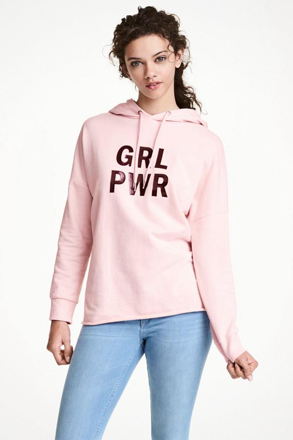 """Rosa sweatshirt """"GRL PWR"""""""