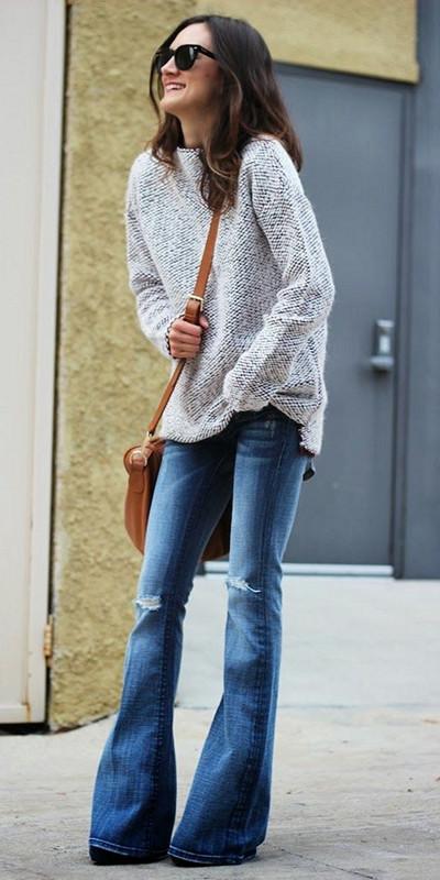 Inspiration utsvängda jeans