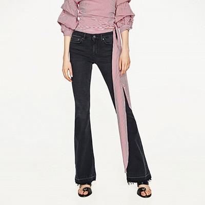 Zara utsvängda jeans