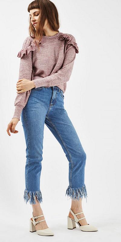 Topshop fringe jeans