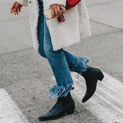 Inspiration avklippta jeans
