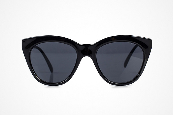 Svarta cat eyes solglasögon Le Specs