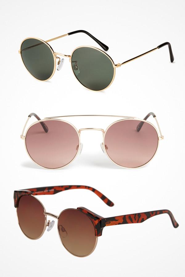Solglasögon runda bågar