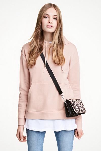 H&M rosa hoodie