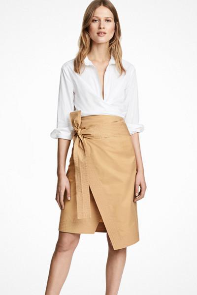 H&M gul kjol