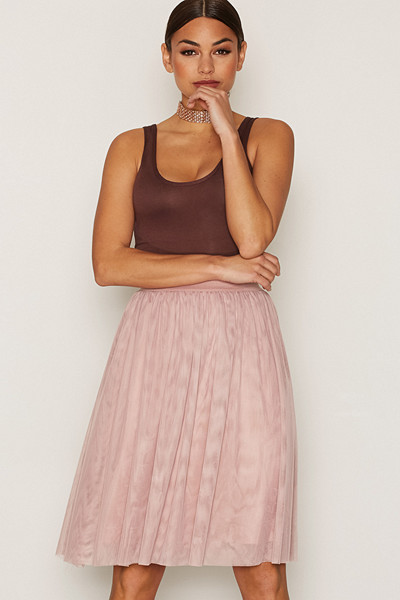 Vila rosa kjol mesh