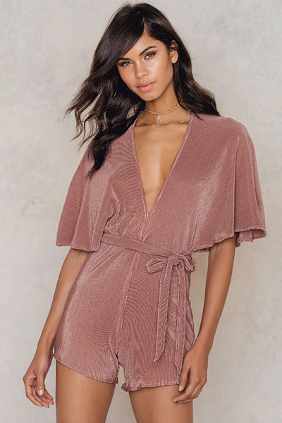 NA-KD Party rosa playsuit