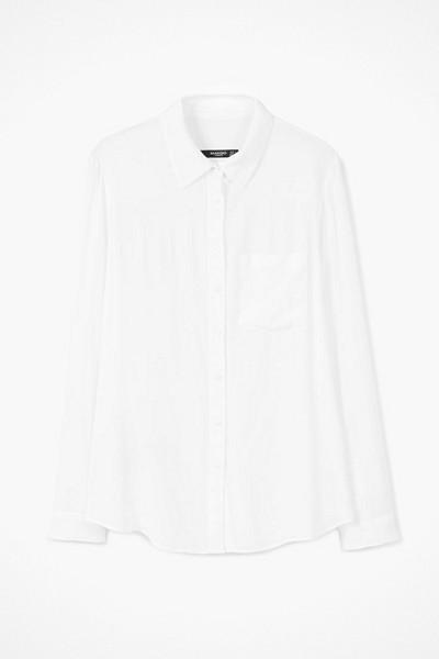 Mango tunn vit skjorta