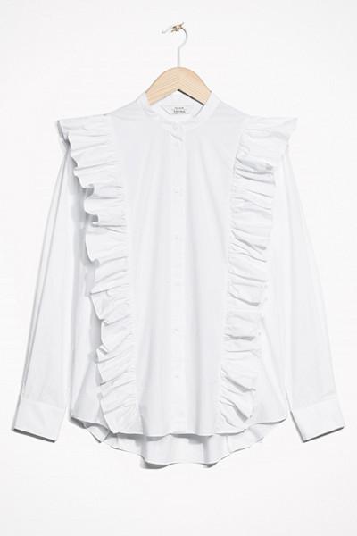 & Other Stories vit skjorta med volanger