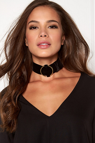 Molly Rustas svart choker Velvet Neck Belt