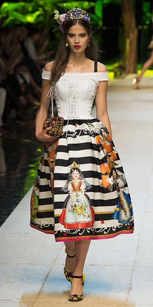 Randigt från Dolce & Gabbana SS17