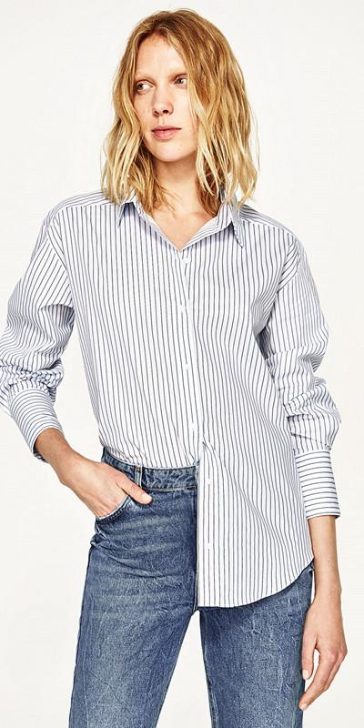 Zara randig skjorta