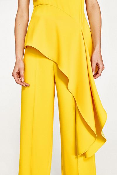 Zara gul asymmetrisk topp