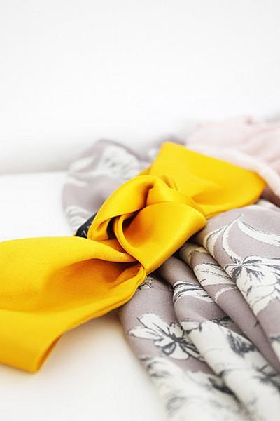 Zara gult turban-diadem