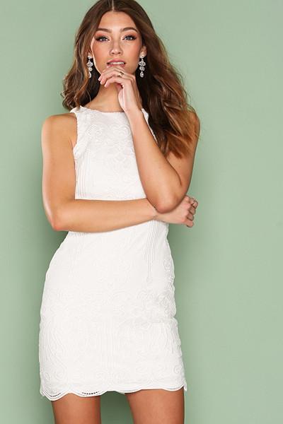 Lauren Ralph Lauren vit spetsklänning