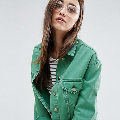ASOS grön jeansjacka