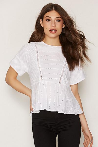 Topshop t-shirt i peplum-modell
