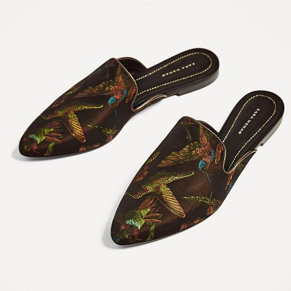 Zara mönstrade mule sandaler