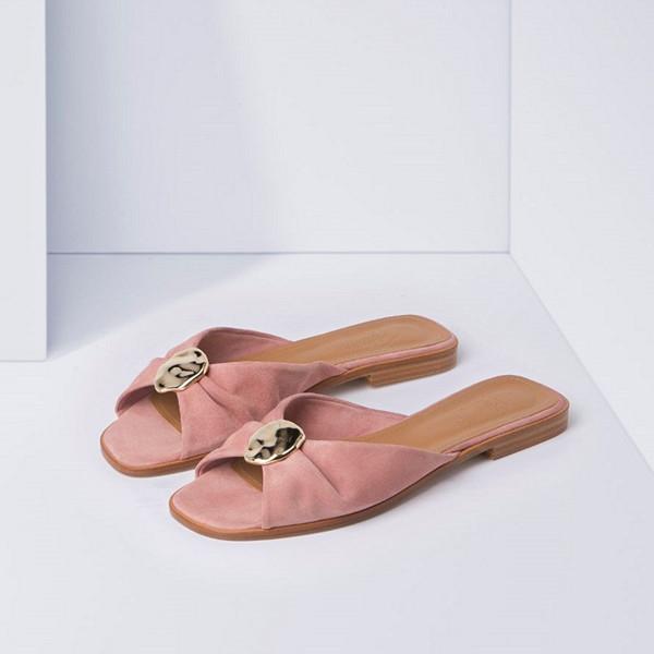 Michaela Forni x Flattered rosa sandaler