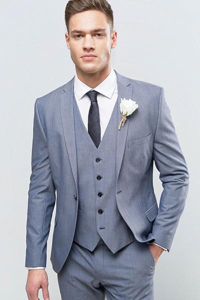 Selected Homme grå-blå kostym till honom